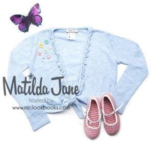 NWT  Matilda Jane  Blue Dandy Shrug Sweater top